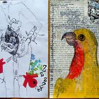 Brooklyn Art Library Sketchbook Project, ps 24 & 25 by avalyn