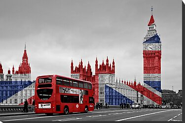 Big Ben and Union Jack by Alice Gosling
