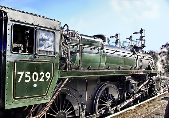 The Green Knight Locomotive by Trevor Kersley