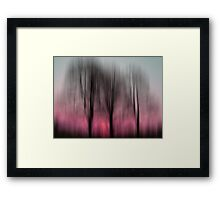 Three Trees in Motion - pink Framed Print