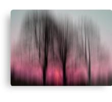 Three Trees in Motion - pink Metal Print