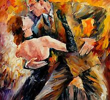 CLASSICAL TANGO- OIL PAINTING BY LEONID AFREMOV by Leonid  Afremov