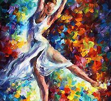 CANDLE FIRE- OIL PAINTING BY LEONID AFREMOV by Leonid  Afremov