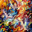 BURNING FLIGHT- OIL PAINTING BY LEONID AFREMOV by Leonid  Afremov