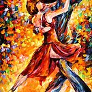 IN THE RHYTHM OF TANGO - OIL PAINTING BY LEONID AFREMOV by Leonid  Afremov