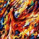 FLAME DANCE - OIL PAINTING BY LEONID AFREMOV by Leonid  Afremov
