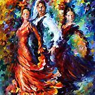 PASSION OF THE DANCE   - OIL PAINTING BY LEONID AFREMOV by Leonid  Afremov