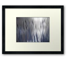 Reeds Abstract - blue Framed Print