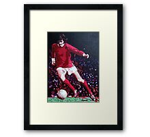 George Best in pop art by db Artstudio Framed Print