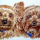 Pet dogs by db Artstudio by Deborah Boyle