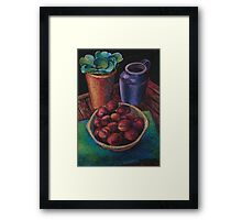 Still Life with Plums Framed Print