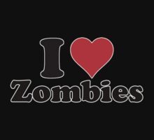 I love zombies (2) Kids Clothes