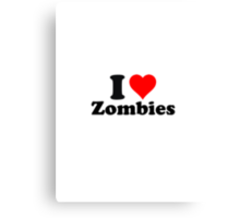 I love zombies (2) Canvas Print
