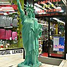 Replica Statue of Liberty outside of the Electronics Store, 8th Avenue, NYC by Jane Neill-Hancock