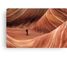 The Wave Seeking Enlightenment Canvas Print