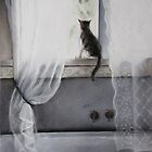 My Bathroom with Cat by Felicity Deverell
