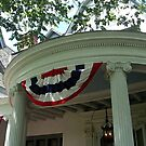 Patriotic Drapes On Ringwood Manor, NJ by Jane Neill-Hancock