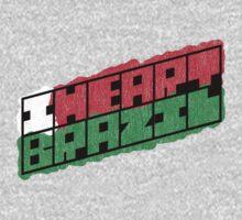 I Heart Brazil Square by CreativoDesign