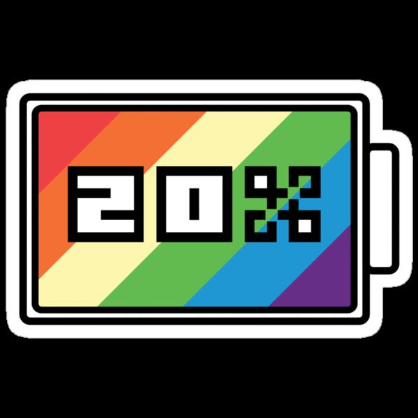 Rainbow Dash 20% Battery by ZincSpoon