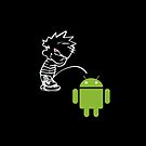 Calvin Piss on Android iPhone case by Jnhamilt