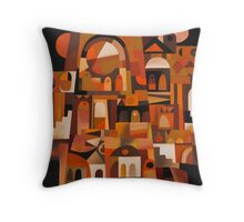 ANCIENT FACADE Throw Pillow