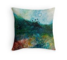 GREEN LANDSCAPE Throw Pillow