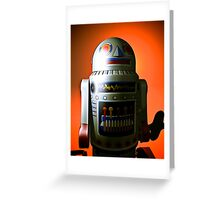 Retro Cropped Toy Robot 02 Greeting Card
