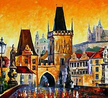 PRAGUE - OLD CITY - OIL PAINTING BY LEONID AFREMOV by Leonid  Afremov