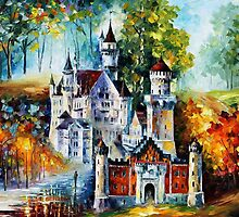 MAGICAL CASTLE- OIL PAINTING BY LEONID AFREMOV by Leonid  Afremov