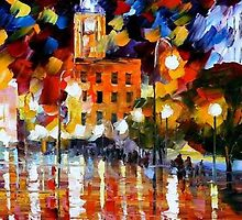 THE SQUARE OF REFLECTIONS- OIL PAINTING BY LEONID AFREMOV by Leonid  Afremov