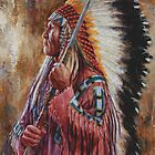 Undaunted Leader, Lakota, Native American art, James Ayers by JamesAyers