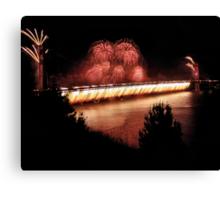 Fireworks - 75th Anniversary of the Golden Gate Bridge Canvas Print