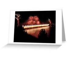 Fireworks - 75th Anniversary of the Golden Gate Bridge Greeting Card