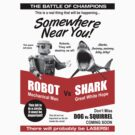 Robot vs. Shark by robotrobotROBOT