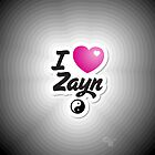 One Direction - I Love Zayn iPhone/iPod case by Adriana Owens