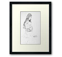 Beautiful Pregnancy Framed Print