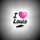 One Direction - I Love Louis iPhone/iPod case by Adriana Owens