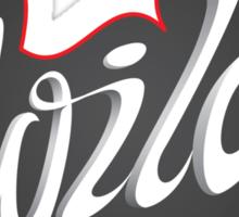 'Wild Child' Lettering T-shirt Sticker