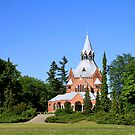 Grand Chapel in a Central Cemetery in Szczecin, Poland by Teresa Zieba