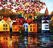 WHERE I GREW UP- OIL PAINTING BY LEONID AFREMOV by Leonid  Afremov