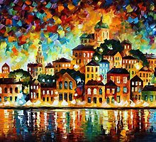 LOVELY HARBOR - OIL PAINTING BY LEONID AFREMOV by Leonid  Afremov
