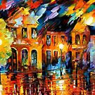 OLD STREET - OIL PAINTING BY LEONID AFREMOV by Leonid  Afremov