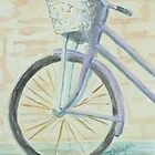 Basketted Purple Bike by Jeanne Allgood