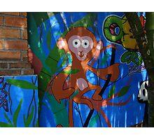 The Monkey - Graffiti - El Chango Photographic Print