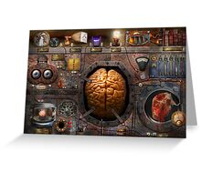Steampunk - Information overload Greeting Card