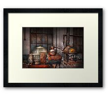 Steampunk - Private distillery  Framed Print
