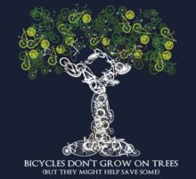 Bike Tree (white) by Nick  Taylor