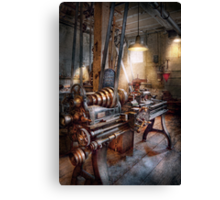 Machinist - Fire Department Lathe Canvas Print