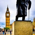 Never Surrender - Winston Churchill &amp; Big Ben by Mark Tisdale