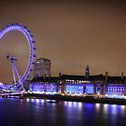The London Eye at Night by DavidONeill